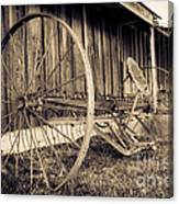 Antique Hay Rake Canvas Print