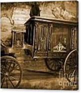 Antique Hearse As Tintype Canvas Print