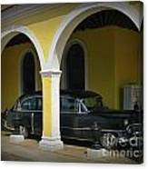 Antique Hearse In Havana Cemetary Canvas Print