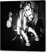 Antique Horse Bw Canvas Print