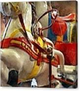 Antique Horse Cart Canvas Print