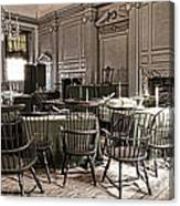 Antique Independence Hall Canvas Print