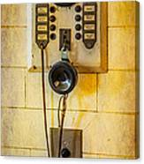 Antique Intercom Canvas Print