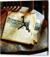 Antique Keys On Newspaper Canvas Print