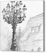 Antique Lampost Canvas Print