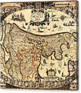 Antique Map Of Holland 1630 Canvas Print