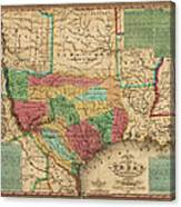 Map Of Texas 1835.Antique Map Of Texas By James Hamilton Young 1835 Art Print
