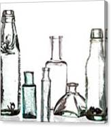 Antique Old Bottles Canvas Print