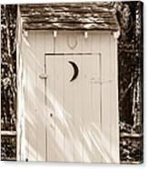 Antique Outhouse Canvas Print
