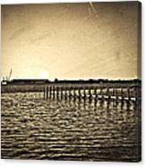 Antique Photo Of Pier  Canvas Print