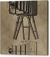Antique Photographic Camera Patent Canvas Print