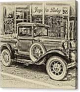 Antique Pickup Truck Canvas Print