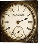 Antique Pocket Watch Canvas Print