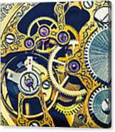 Antique Pocket Watch Gears Canvas Print