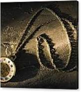 Antique Pocket Watch On Chain Canvas Print