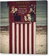 Antique Punch And Judy Canvas Print