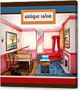 Antique Salon - Colonial Red And Blue Canvas Print
