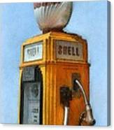 Antique Shell Gas Pump Canvas Print