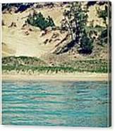 Antique Snapshot Series - Dunes On Lake Michigan Canvas Print