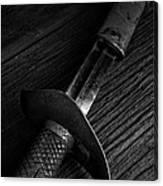 Antique Sword Black And White Canvas Print