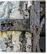 Antique Textured Metalwork Gate Canvas Print
