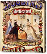 Antique Toilet Soap Ad - 1868 Canvas Print