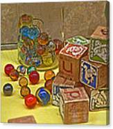 Antique Toys Canvas Print