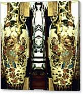 Antique Vases In The Interior Oil Painting On Canvas Canvas Print