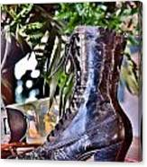 Antique Victorian Boots At The Boardwalk Plaza Hotel - Rehoboth Beach Delaware Canvas Print