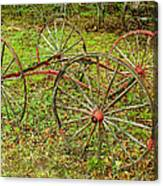Antique Wagon Frame Canvas Print