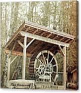 Antique Wagon Wheel Canvas Print