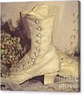 Antique Wedding Shoes Canvas Print