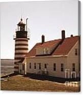 Antique West Quoddy Lighthouse Canvas Print