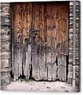 Antique Wood Door Damaged Canvas Print