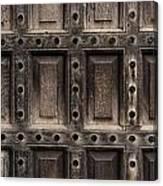 Antique Wooden Door Closeup Canvas Print