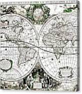 Antique World Map Poster Canvas Print