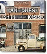Antiques Blacksmith And Horseshoer Canvas Print