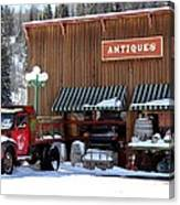 Antiques In The Mountains Canvas Print