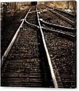 Antiquetrain On Tracks Canvas Print