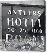 Antler's Hotel Front Door Ghost Town Victor Colorado 1971 1971-2013 Canvas Print