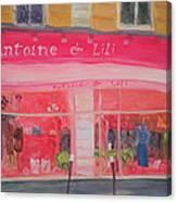 Antoine & Lili, 2010 Oil On Canvas Canvas Print