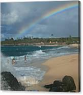 Anuenue - Aloha Mai E Hookipa Beach Maui Hawaii Canvas Print