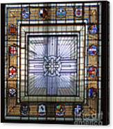 Anzac Day 2014 Auckland War Memorial Museum Stained Glass Roof Canvas Print