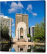 Anzac Memorial And Pool Of Reflection Canvas Print