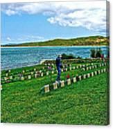 Anzak Cemetery Along The Dardenelles In Gallipolii-turkey Canvas Print