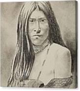 Apache Girl 1906 Canvas Print