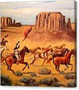 Apache Horse Hunters Canvas Print
