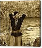 Apache River Maiden Canvas Print