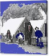 Apache Scouts Soldiers Living Quarters Location And Date Unknown  Canvas Print