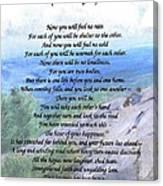 Apache Wedding Prayer Canvas Print